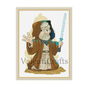 Obi-Wan Kenobi Cross Stitch Pattern