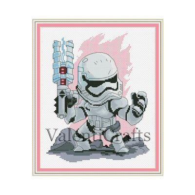 Stormtrooper cross stitch pattern