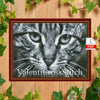 Monochrome Cat Cross Stitch Pattern