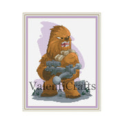 Chewbacca cross stitch pattern