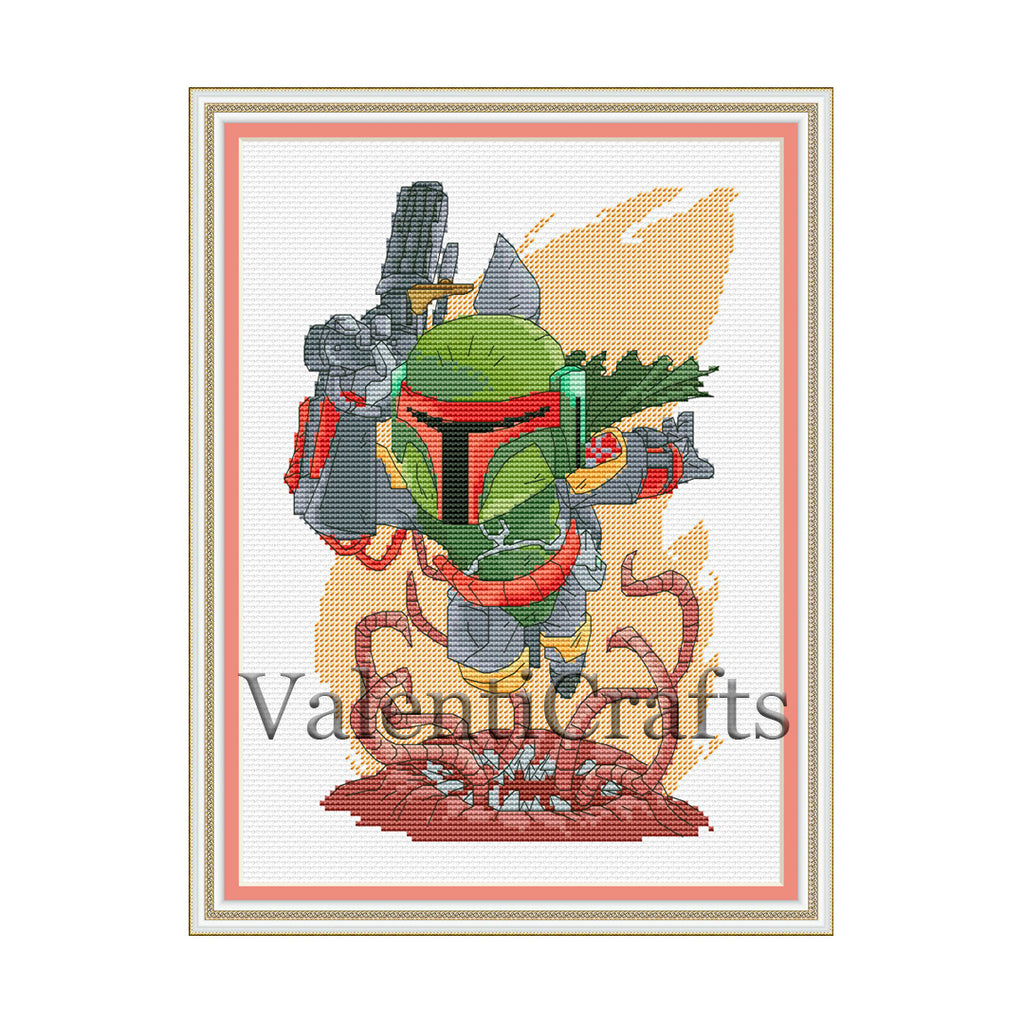 Boba Fett Cross Stitch Pattern