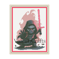 Kylo Ren Cross Stitch Pattern