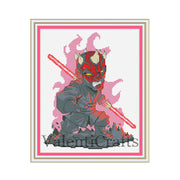 Star Wars Cross Stitch Pattern, Darth Maul