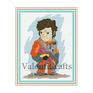 Roe Dameron cross stitch pattern