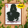 Darth Vader Monochrome Star Wars Cross Stitch Pattern