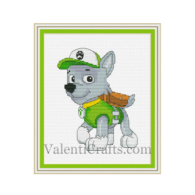 Rocky Paw Patroll Cross Stitch Pattern