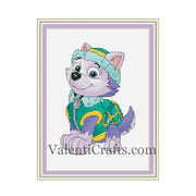 Everest cross stitch pattern, cartoon, Paw Patrol