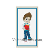 Ryder cross stitch pattern, Paw Patrol