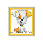 Bubble Guppies Bubble Puppy Cross Stitch Pattern