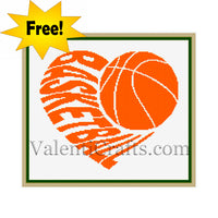 Basketball Free Cross Stitch Pattern