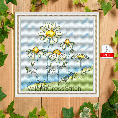 Summer Flowers Cross Stitch Pattern - Chamomile