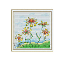 Cute Flowers Cross Stitch Pattern
