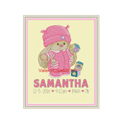 Birth Announcement Girl Cross Stitch Pattern