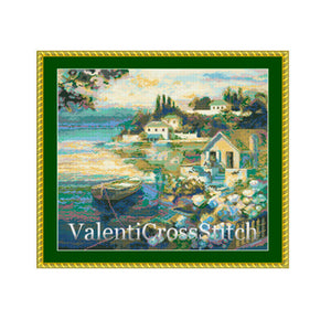 Italy Cross Stitch Pattern