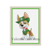 Paw Patrol - Tracker Cross Stitch Pattern