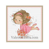 Little fairy in a pink dress cross stitch pattern