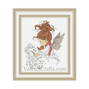 Little christmas angel cross stitch pattern