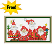 Free Santa cross stitch pattern