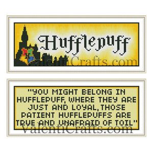 Hufflepuff two bookmarks cross stitch patterns