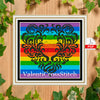 Rainbow Love Cross Stitch Pattern