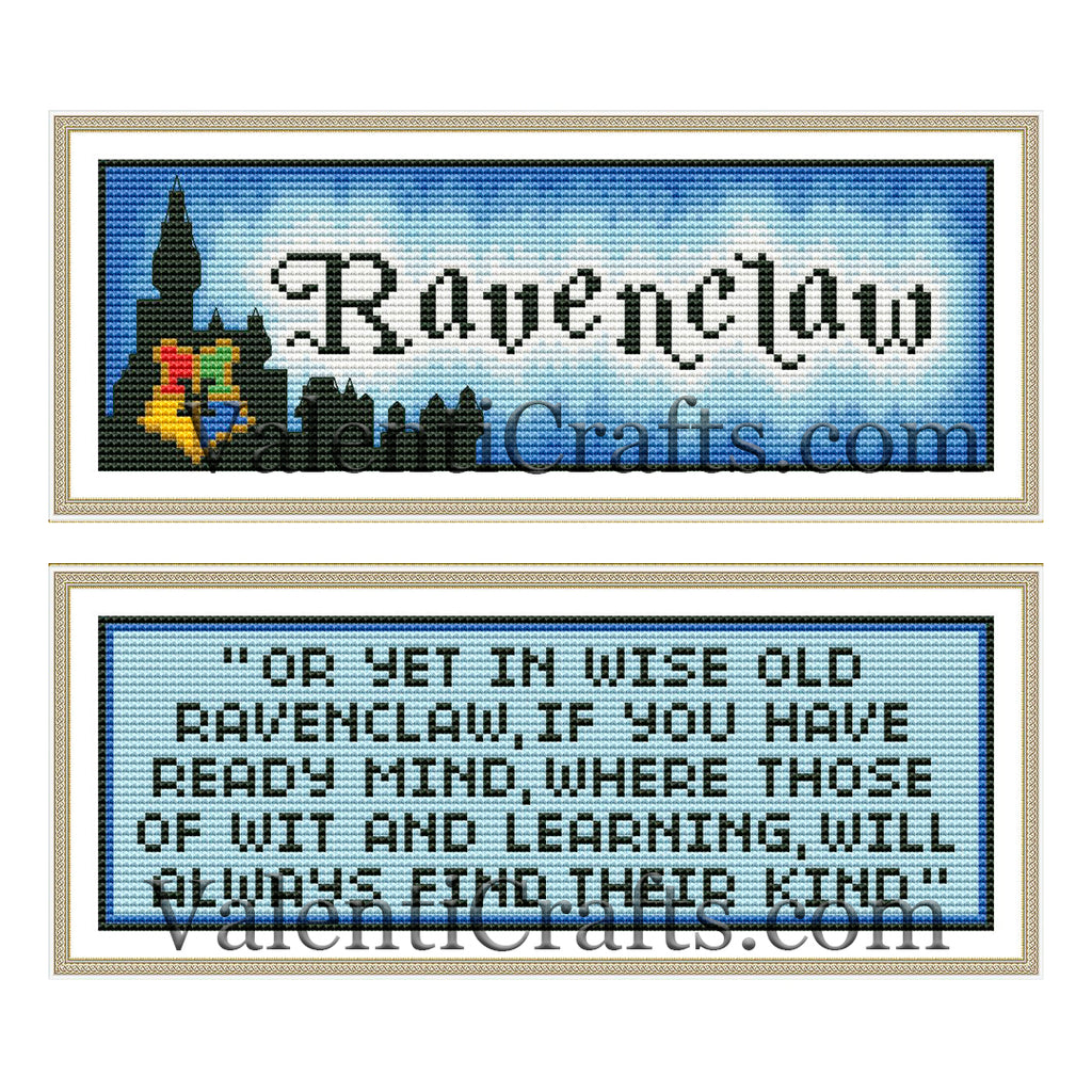 Ravenclaw two bookmarks cross stitch patterns