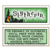 Slytherin  two bookmarks cross stitch patterns