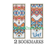 Two Wolf Bookmarks Cross Stitch Patterns