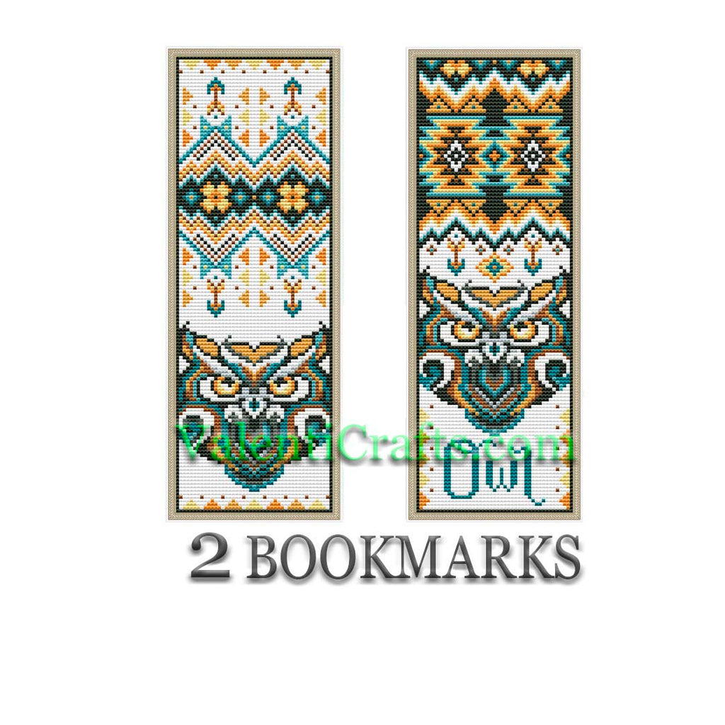 Two Bookmarks Owl Cross Stitch Patterns