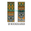 Two Panther bookmarks or mini sampler cross stitch pattern