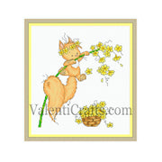 Little squirrel cross stitch pattern