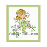 Little morning fairy cross stitch pattern