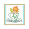Little tea elf cross stitch pattern