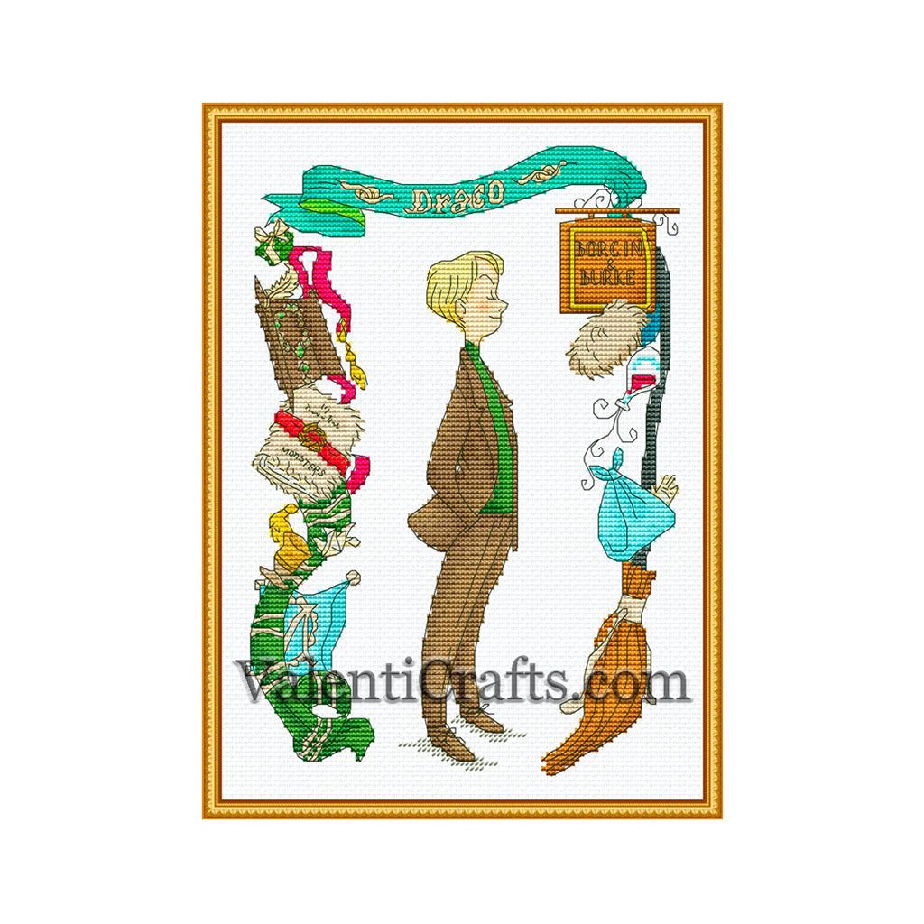 Draco Malfoy Cross Stitch Pattern