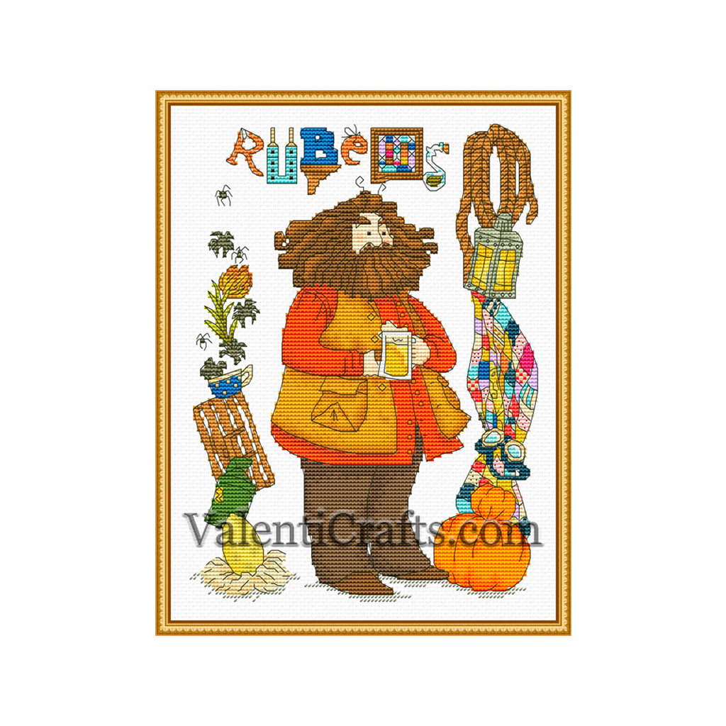 Rubeus Hagrid cross stitch pattern