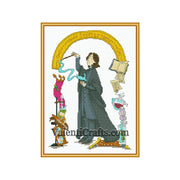 Severus Snape cross stitch pattern