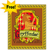 Free Griffindor Free Counted Cross Stitch Pattern