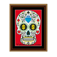 Sugar Skull - 3 Cross Stitch Pattern