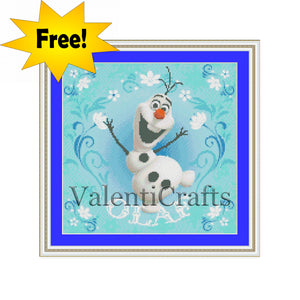 FREE cross stitch pattern Olaf Disney