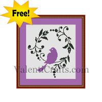 Bird Free Cross Stitch Pattern