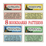 8 Harry Potter Bookmarks Cross Stitch Patterns