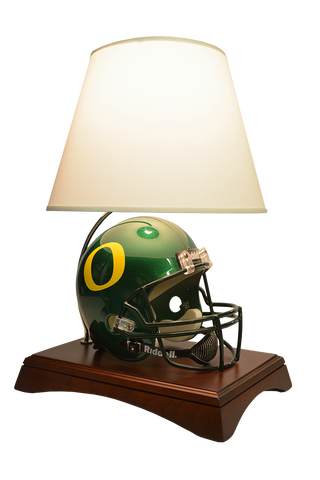 59483065a5e Arched Lamp Base with Full Size NCAA Riddell Authentic (SPEED) On-Field  Helmet