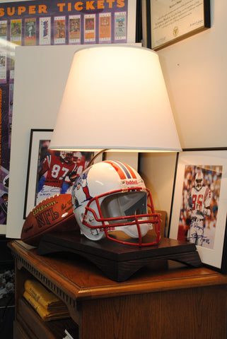 9eef41d0ab9 ... Arched Lamp Base with Full Size Riddell NFL Authentic Throwback Helmet ( VSR4)
