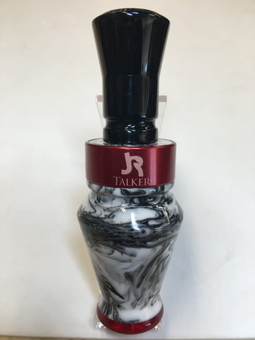 Premium Duck Call White & Black with Red Clear Tip