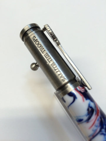 Patriotic Bold Action Pen Pewter Red, White & Blue