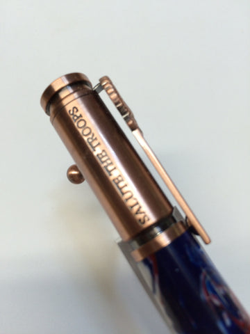 Patriotic Bold Action Pens Copper With Red, White & Blue