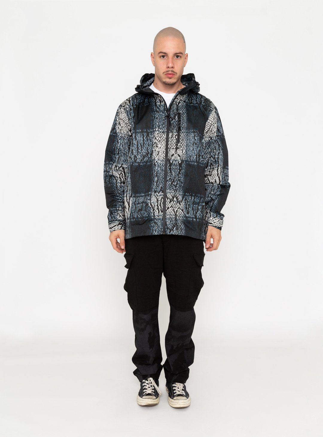 SNAKE GINGHAM WINDBREAKER