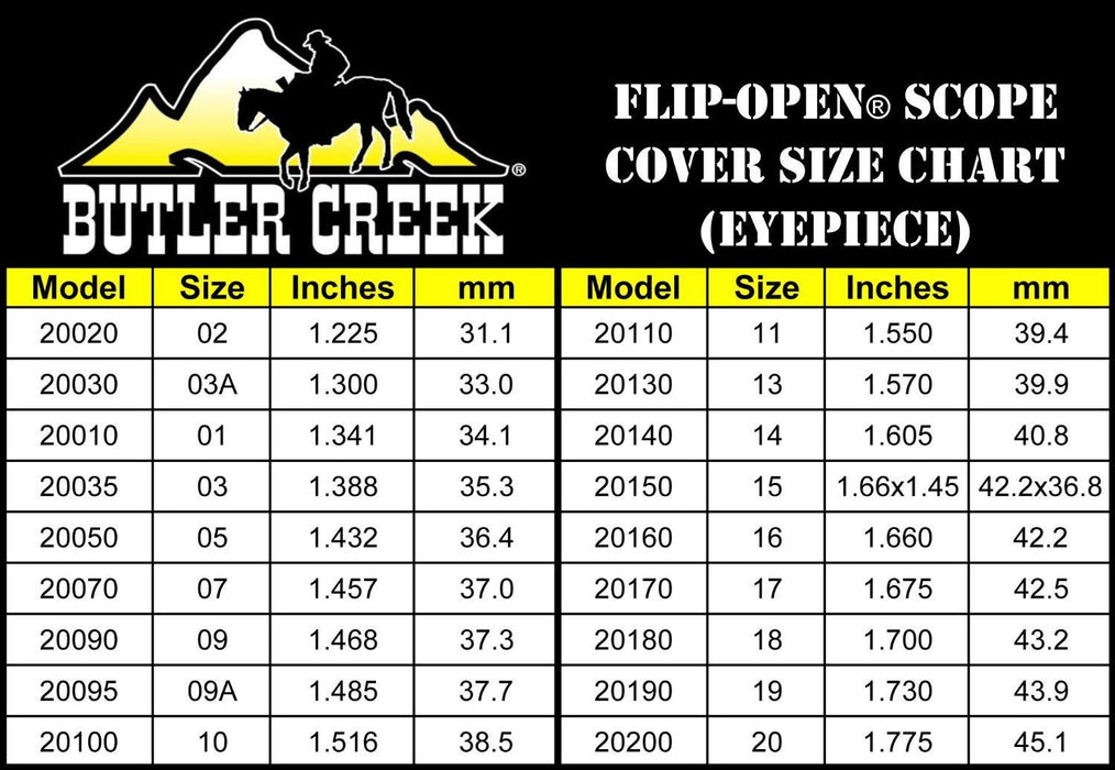 Butler Creek 16-17 EYE Scope Cover