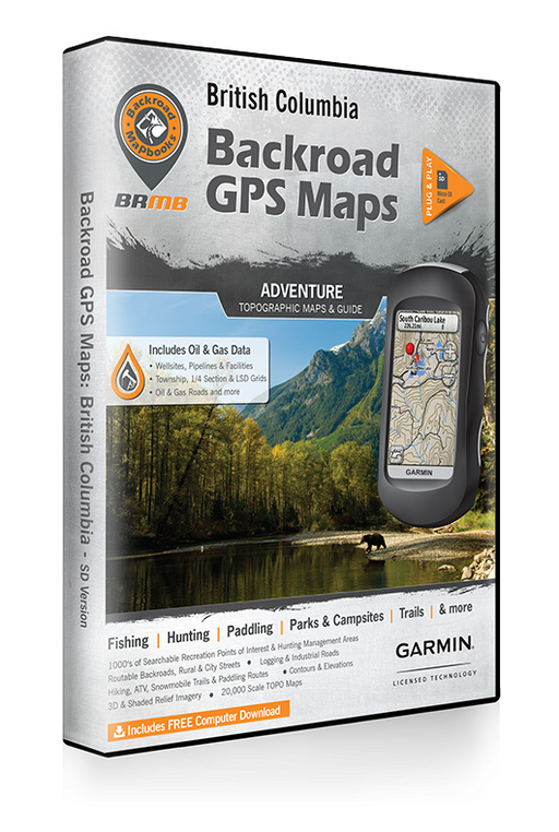 Backroad Mapbooks BC GPS Maps