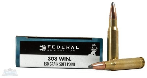 Federal Power-Shok .308 Win 150 Grain SP Ammunition 308A