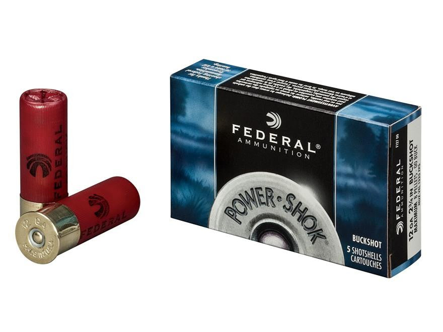 Federal Power-Shok 12 Gauge 2-3/4in No. 00 Buckshot F12700